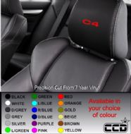 Citroen C4 Car seat Decals